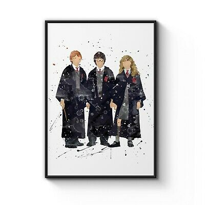 Harry Potter and Friends Nursery Movie Decor Art Poster Print - A4 to A0 Framed