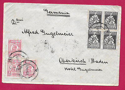 Roumanie Romania Barza 1926 Oberkirch Baden Allemagne Germany Lettre Cover
