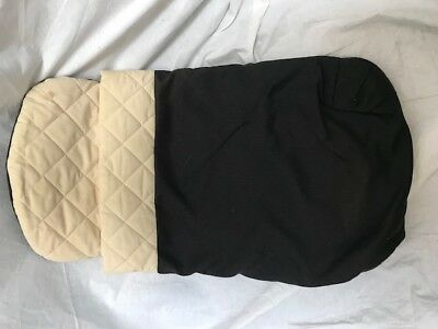 Bugaboo Frog Stroller Bassinet Mattress Cover Sleeping Bag Black Canvas Quilted