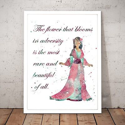 Disney Mulan Quote Watercolour Nursery Decor Art Poster Print - A4 to A0 Framed