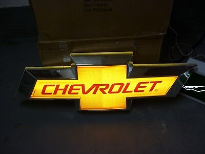 Chevrolet Chevy Showroom Sign Illuminated Dealership Sign  Garage Man Cave