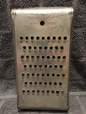 Vintage Antique THE WONDER SHREDDER Cheese Grater, rustic small holes