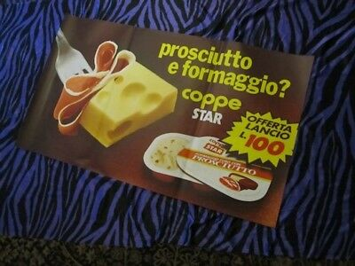 Prosciutto! Rare Italian Advertising Foodie Poster! Huge Rolled Paper Ad Vtg