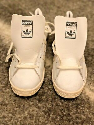 Vintage Adidas Century Original 1980s Leather Made in France Stan Smith New Cond