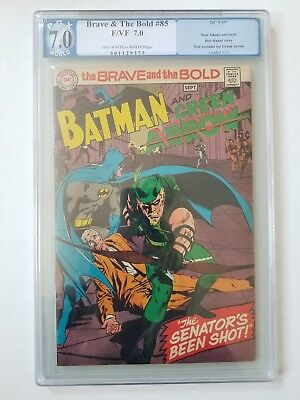 Brave and the Bold #85 Graded - PGX 7.0 F/VF ~ Batman and Green Arrow