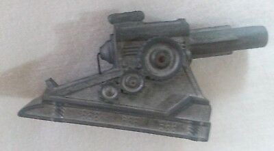 Vintage Antique Small Cast Aluminum Toy Cannon Made in USA
