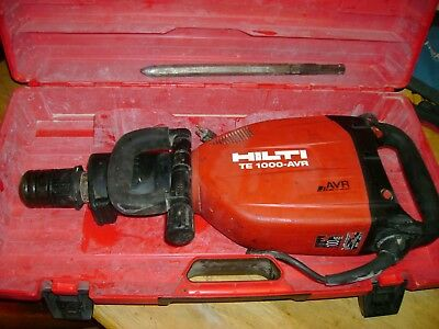 Hilti te-1000 avr Breaker Hammer Electric Demolition te1000 great working /bit