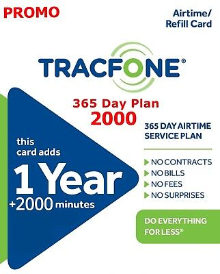 TracFone  TOP UP 1 Year 365 Days Service and 400+ Minutes Weekend Promo $99.00