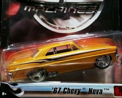 Hot Wheels 67 1967 Chevy Nova G Machines New Edition Series Chevrolet Car Gold