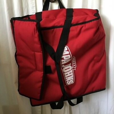 Papa Johns Pizza Insulated Hot Bag Delivery Large Red Carrying Case Tote