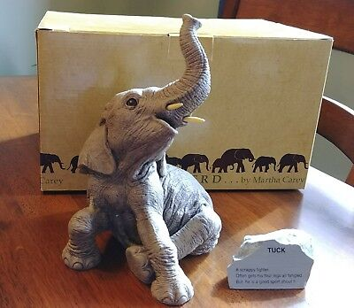 The Herd Martha Carey Elephant Sculpture TUCK 3105 1994 W/Orig Box