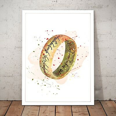 Lord of the Rings LotR Watercolour Nursery Decor Art Poster Print - A4 to A0