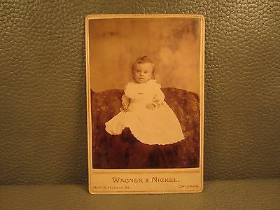 Victorian Antique Cabinet Card Photo of Baby Girl