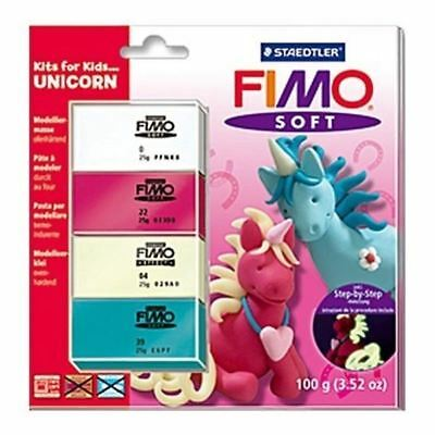 Fimo Kits for Kids Polymer Modelling Oven Bake Clay Set - Unicorn