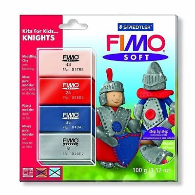 Fimo Kits for Kids Polymer Modelling Oven Bake Clay Set - Knights