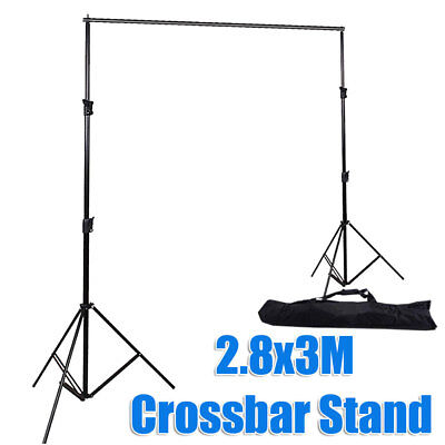 Photoy Studio 2.8x3M Heavy Duty Adjustable Backdrop Background Support Stand Kit