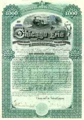 1890 Chicago & Erie RR Bond Certificate