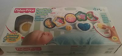 2001 Fisher-Price sparkling Symphony Soother with remote in box, baby, crib