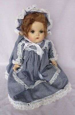 """Vintage Madame Alexander 19"""" Composition & Cloth Baby McGuffey Doll Used"""