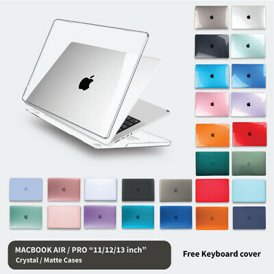 "Apple Macbook Hard Case +  Keyboard Cover  Air 11"" 12'' 13"" Pro 13 inch Retina"