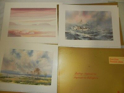 Air Canada Airlines Fine Art Lithograph Prints Lot Of Three (3) First Class 1985