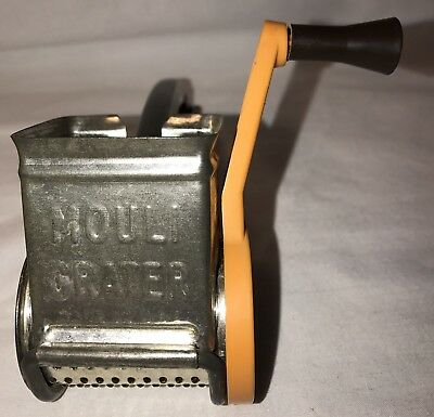 Vintage Mouli Rotary Grater ~Made In Usa~Removable Drum~Nice Old Gadget