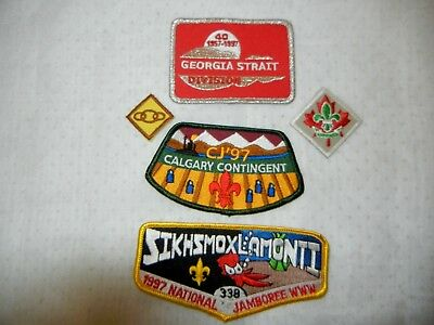BOY SCOUT BSA LOT of  PATCHES X FIVE (5) SCOUTS CANADA USA 1997 JAMBOREE
