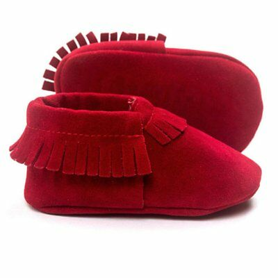 b540bdb896e 0-18M Boys Girls Suede Leather Crib Shoes Baby Soft Sole Moccasin Toddler  Shoes