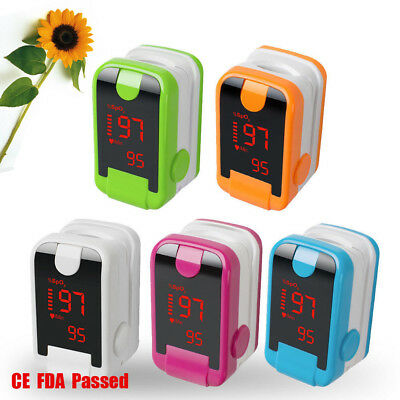 Medical Fingertip Pulse Oximeter Blood Oxygen meter SpO2 PR Monitor LED/OLED FDA