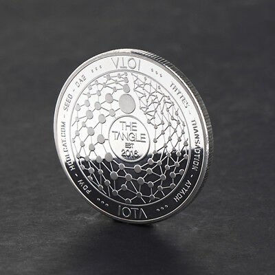 New IOTA 2016 Storage Commemorative Coin Collection Art Gifts Souvenir Silver
