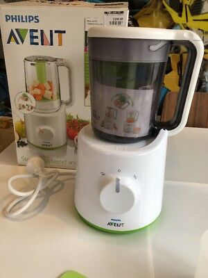 Philips Avent Combined Steamer And Blender 2 In 1 Healthy Baby Food Maker 0% Bpa