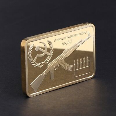 Golden Tacticle AK 47 Square Commemorative Coin Collection Arts Gifts Souvenir