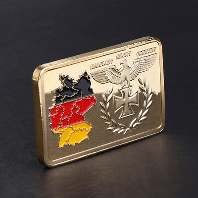 Golden Germany Territory Commemorative Coin Square Collection Arts Gift Souvenir