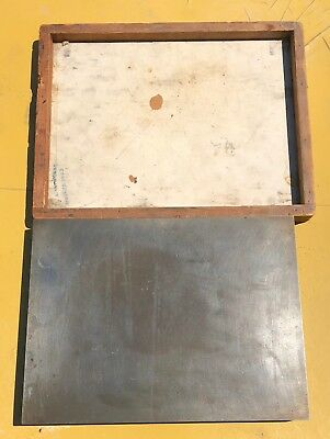 Old Machinist Surface Plate  12 X 9 - 20 Lbs - Nice Shape-