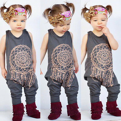 Toddler Baby Girl Kids Bodysuit Floral Romper Jumpsuit Sunsuit Sleeveless Outfit