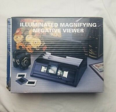 Jobar's Illuminated Magnifying Slide Negative Viewer (Open Box New Unused)