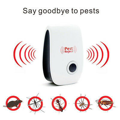 NEW 5Pcs Ultrasonic Pest Mouse Cockroach Reject Anti-mosquito Insect Repellent
