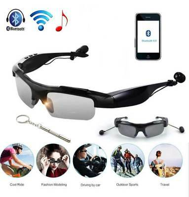 Wireless Sunglasses Handsfree Stereo Bluetooth 4.1 Headset Lens & Screwdriver