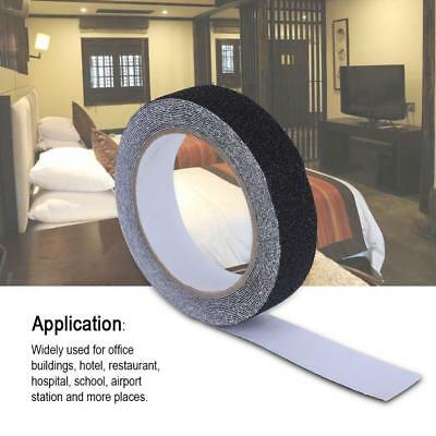 Black 5M*2.5CM PVC Anti Skid Adhesive Tape Home Stair Step Floor Safety Tapes SS