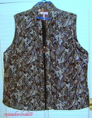 Ladies Size 22-24 Sleeveless Vest With Zip ~  Millers Woman