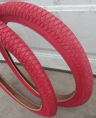 for racing or freestyle bmx bike 20x1.95 Red duro tires