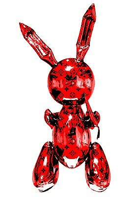 "Death NYC Limited Ed 45x32cm LARGE Signed Graffiti Pop Art Print ""Rabbit Red"""