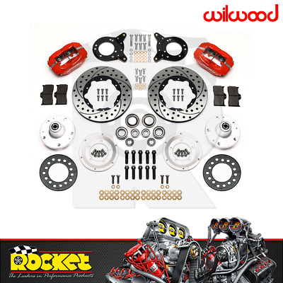 """Wilwood Dynapro 12.19"""" Front Brake Kit RED (65-69 Mustang) - WB140-13344-DR"""