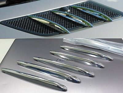 US SELLER PREMIUM CHROME Hood Vent Grill Trims for Mercedes