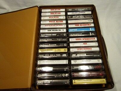 "Lot of 48 Cassette Tapes '60s, Mostly '70s, Early ""80s Rock, Jazz, Soul Most NM"