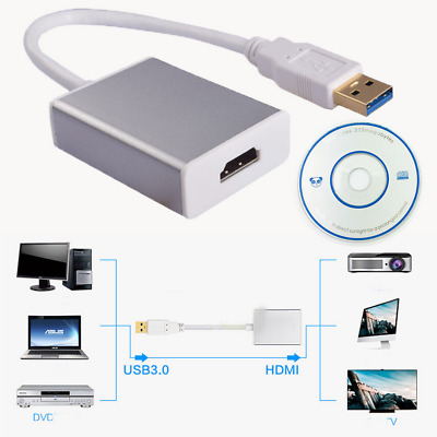 USB 3.0 to HDMI HD 1080P Video Cable Adapter Converter for PC Laptop HDTV UP20