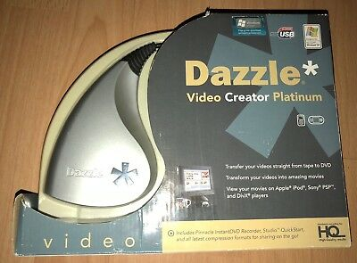 ❤️ PINNACLE DAZZLE Video Creator Platinum w Software, Video Transfer Unit