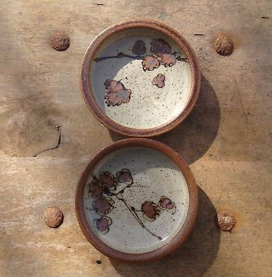 Artist Gawaine Dart 2 Hard-To-Find Signed Grey Stoneware Bowls (1929-2014)