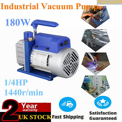 2.5CFM 1/4HP Single Stage Vacuum Pump Air Conditioning Refrigeration Low Noise