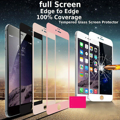 1x  3D iPhone 7 iPhone 8 Fullcover Curved Display Glas Folie 9H